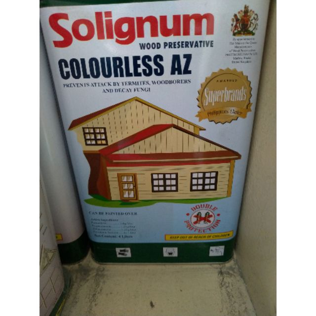 Solignum Anti Anay Termites Wood Preservative Clear Brown Gallon 4 Liters Shopee Philippines