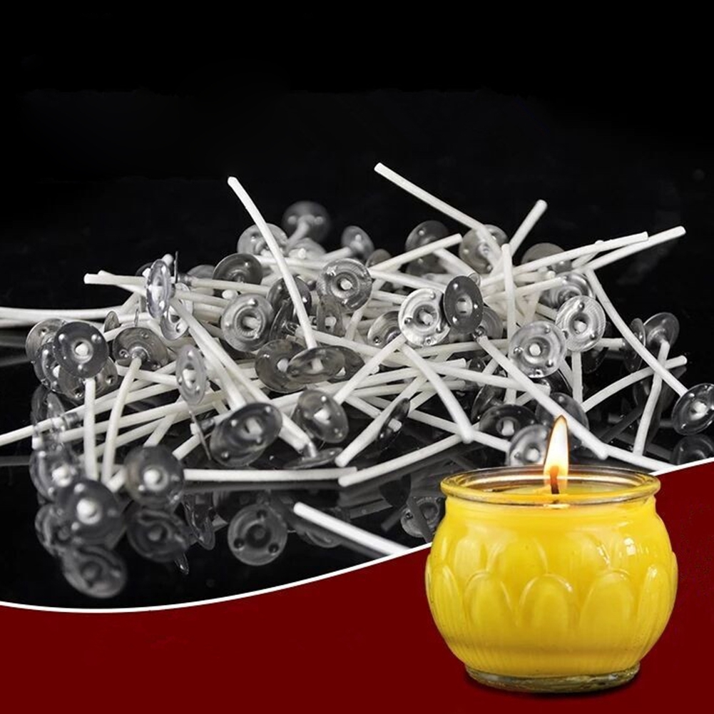 100pcs Pcs Candle Wicks Cotton Core Waxed Wick With Sustainer Candle Hot FO