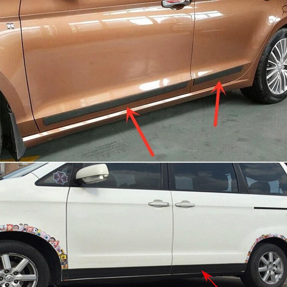1m Universal Front Bumper Strip Carbon Fiber Rubber Car Sticker Protector