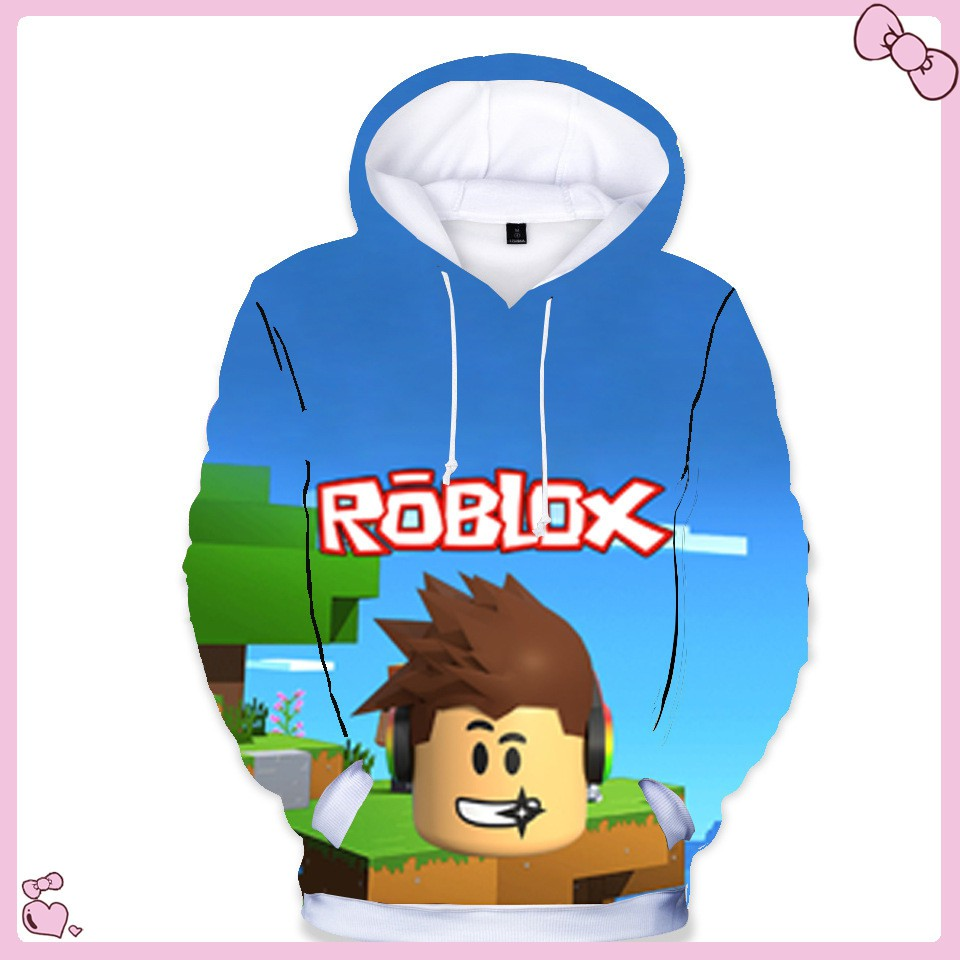 Category Roblox Cute Boy 3d Roblox Pattern Kids Boys Long Sleeve Hoodies Jacket Casual Sweatshirt Autumn Clothing Shopee Philippines