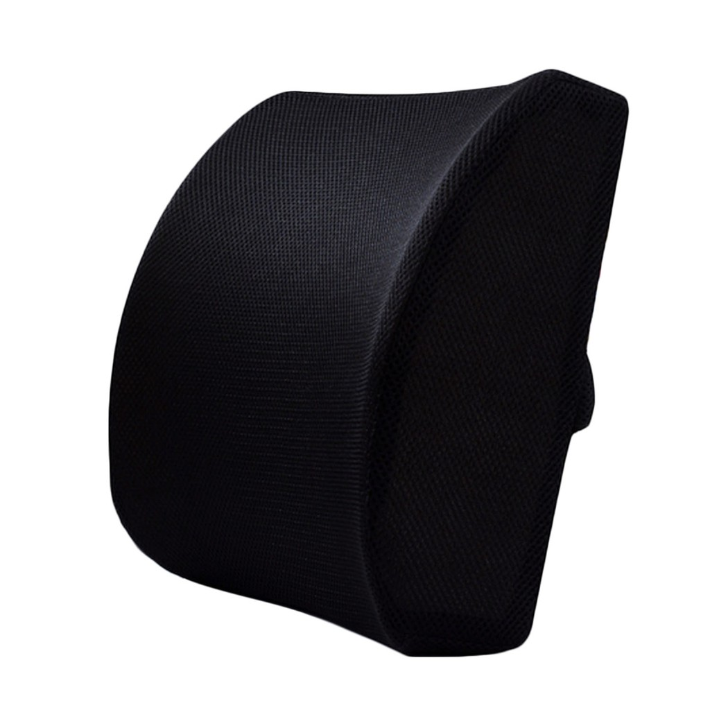Picture of: Memory Foam Office Chair Car Sofa Seat Back Cushion Lumbar Support Pillow With Dual Adjustable Shopee Philippines