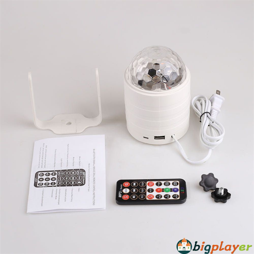Bluetooth Music Starry Sky Light Colorful Rotating Crystal Ball Magic Light Remote Control Flashing Stage Light Big Shopee Philippines