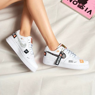 save off 73777 57a00 Bo Nike Air Force 1 Just Do It AF1 Low-cut white stitching c ...