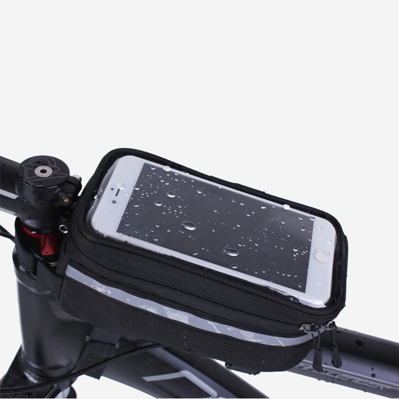 f348680960d  COD  Bike Bicycle Phone Holder Bag Waterproof Handlebar Touch Screen  Shockproof Pouch