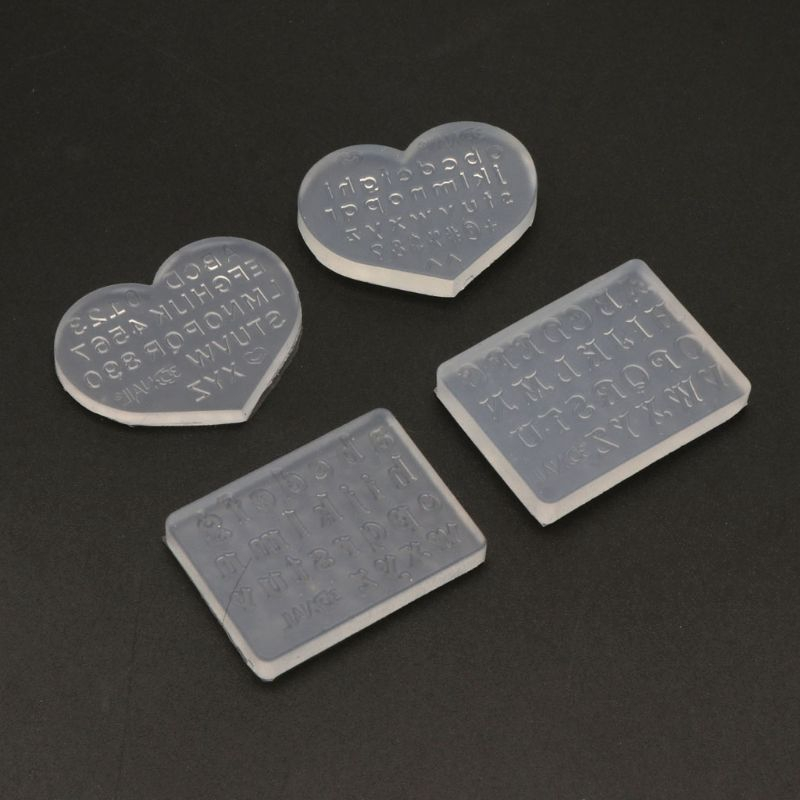 Mold Shape Crafts Making Silicone Diy 2pcs Heart Mould Jewelry For Resin Sell