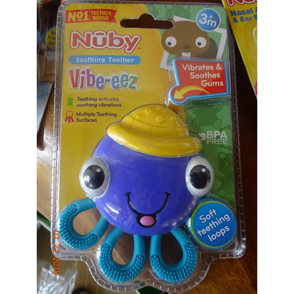 Nuby Vibe-Eez Vibrating Teether Octopus