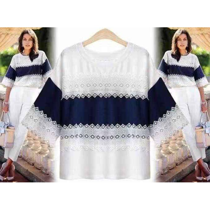 #8001 US Fashion Style Shortsleeve Tops Blouses For Women