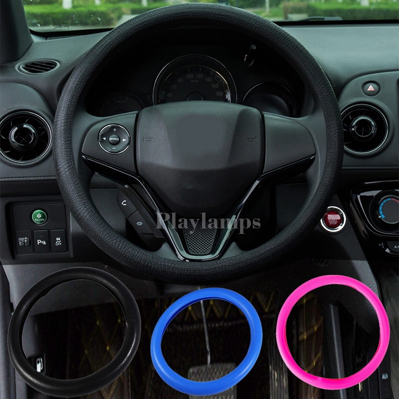 Odorless Ecology Skidproof Silicone Texture Car Steering Wheel Cover 38cm