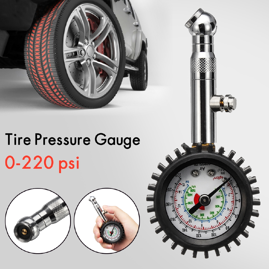 Car 220 PSI Tire Tyre Air Inflator Inflating Tool Pressure Gauge Motorbike Truck | Shopee Philippines