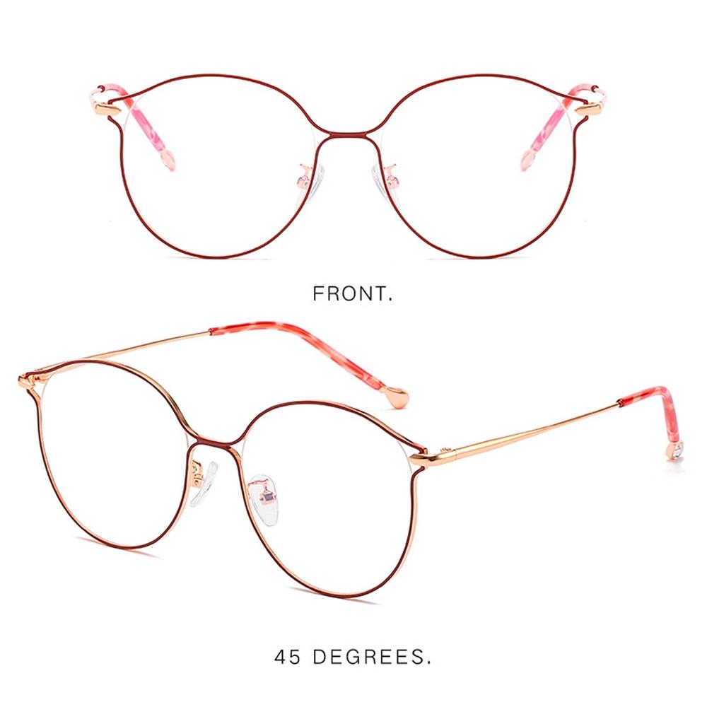 Anti-blue radiation glasses polygonal flat glasses no degree personality unisex rose gold