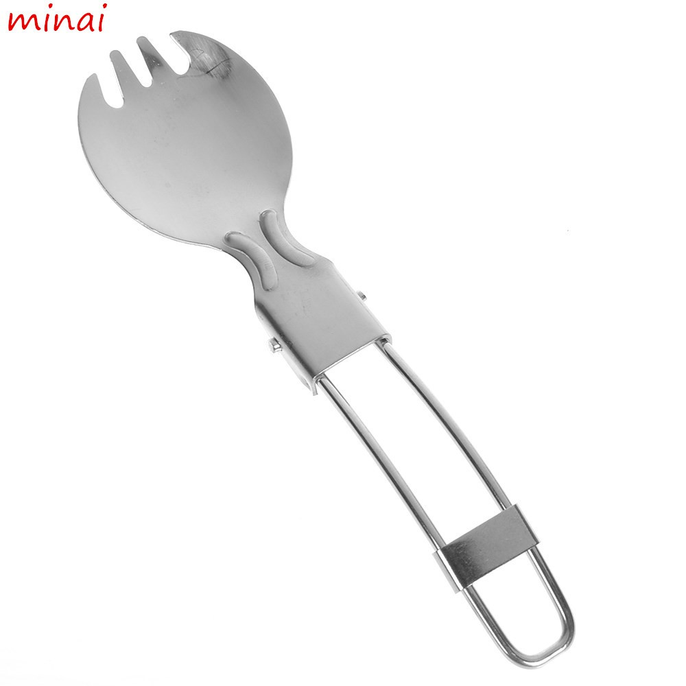 Camping Utensil Picnic Spoon Folding Outdoor Cutlery Stainless Steel Spork