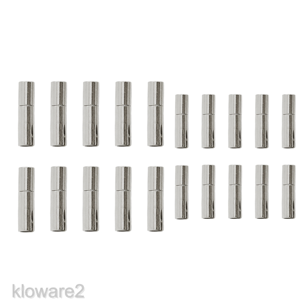 10pcs 2mm Magnetic Clasps Bracelet Leather Cord End Caps For Jewelry Making