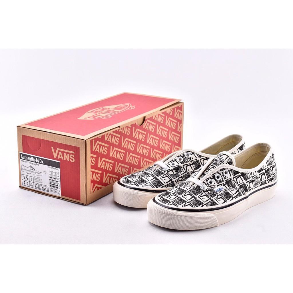 Original Vans Authentic 44 DX Low Cut Sneakers Shoes For Men And Women Black White