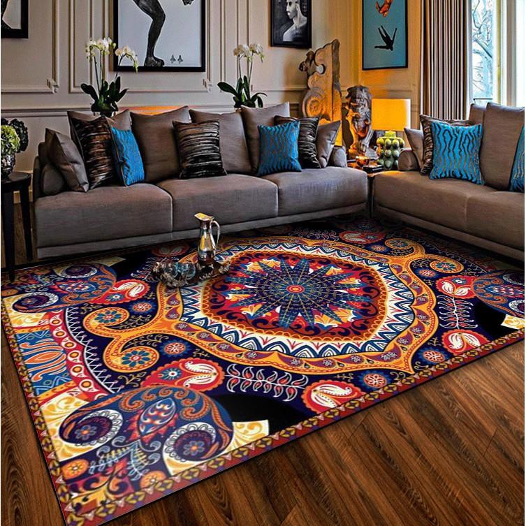 Bohemian Turkish Exotic Rug Retro Ethnic Style Kitchen Rug Living Room Carpets Bedroom Bedside Carpet Floor Mat Non Slip Washable Mats Shopee Philippines