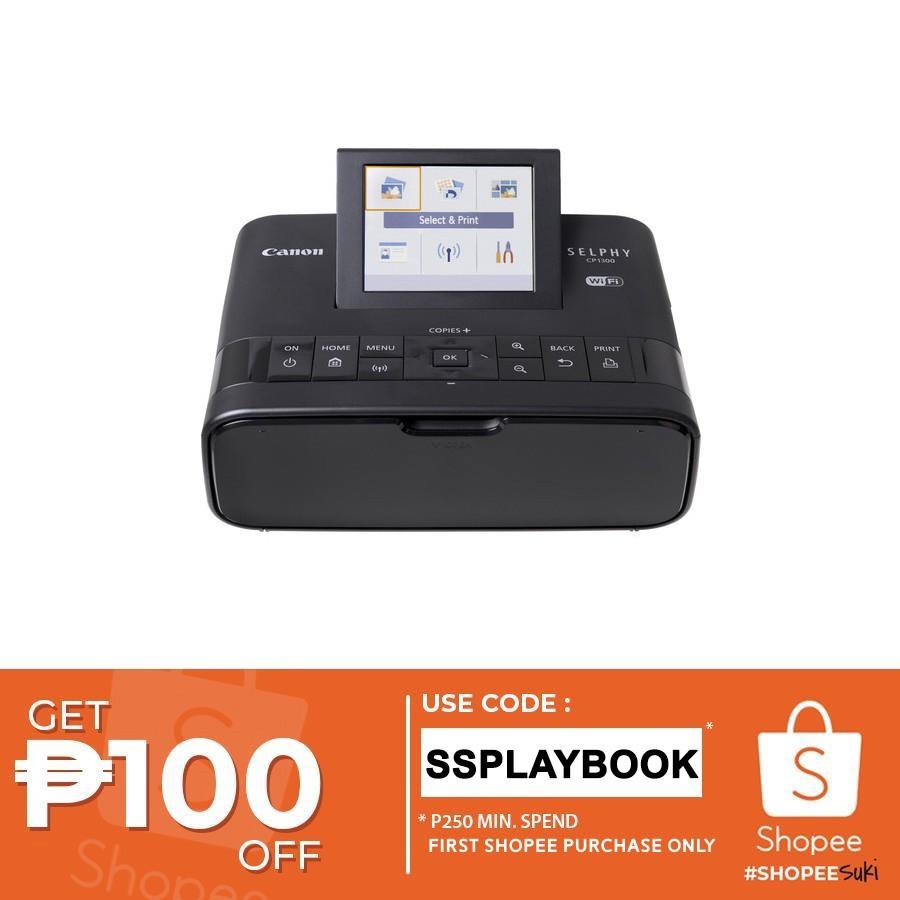 Canon Selphy CP1300 Wireless Compact Photo Printer (Black)