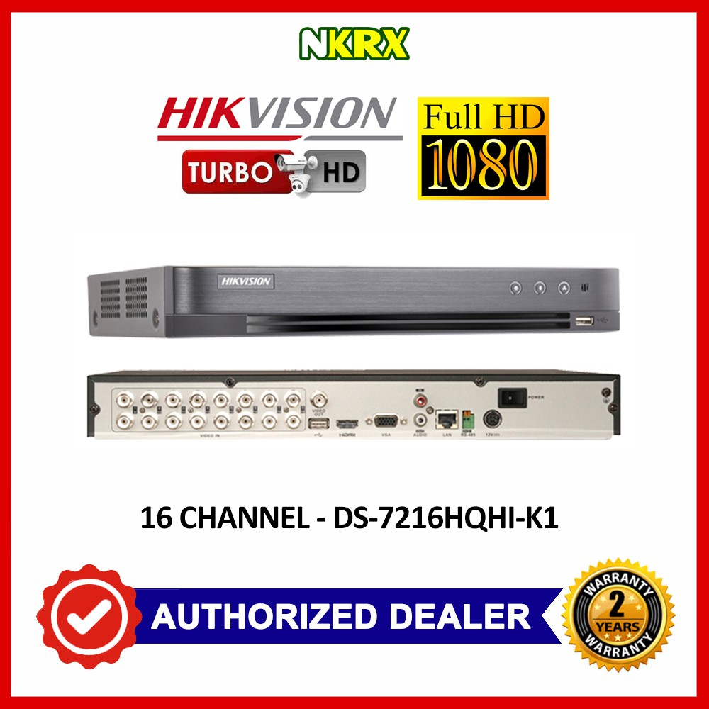 Hikvision 16 Channel Turbo HD CCTV DVR DS-7216HQHI-K1 16CH 1080p 2MP 4MP