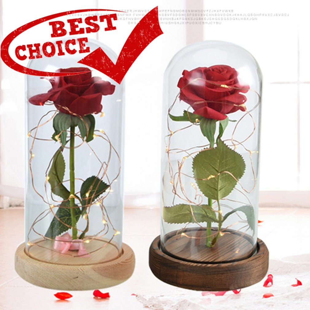40e2952ca6 Beauty And The Beast Enchanted Rose in Glass Dome Bell Jar | Shopee  Philippines