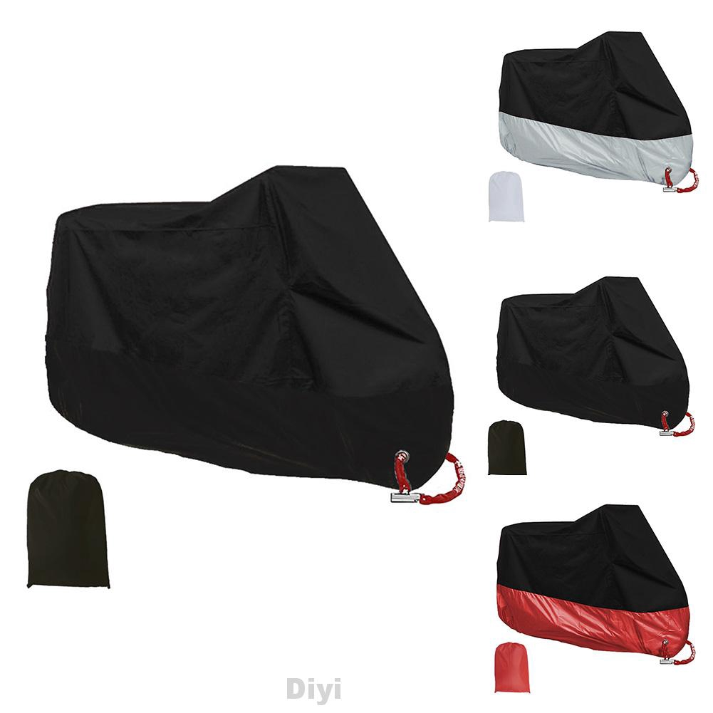 Weatherproof Motorcycle Outdoor Cover Protection Rain Dust and UV Light Large