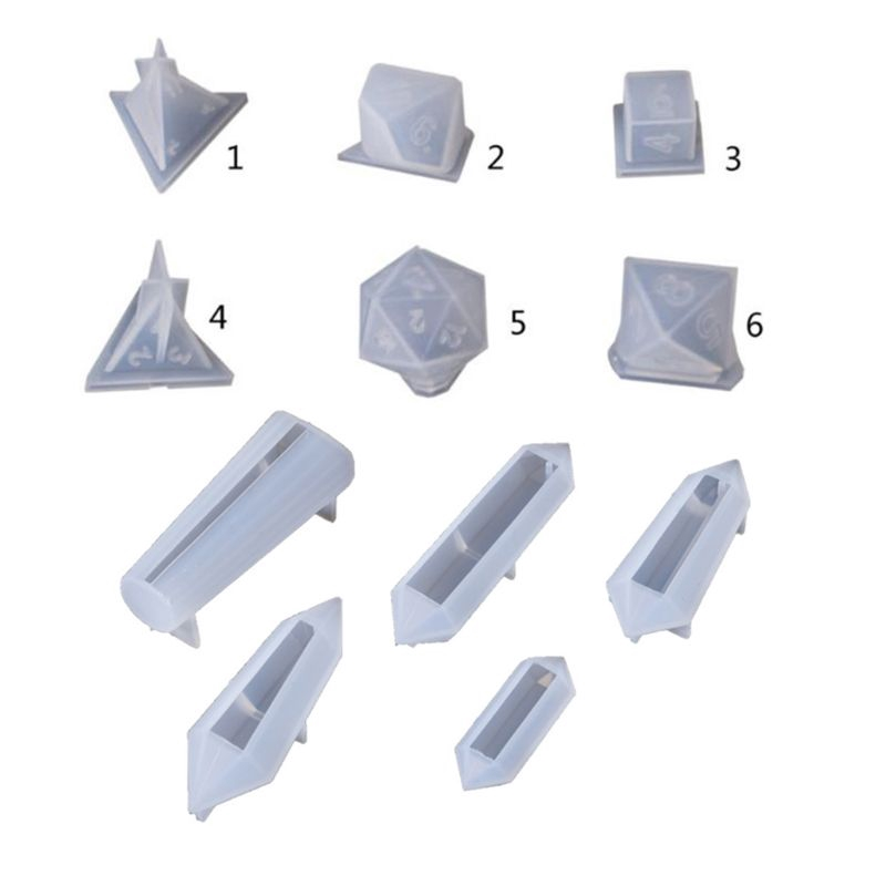 11 Pcs Cross Shape Resin Casting Silicone Molds Set Jewelry Making Tools for DIY Necklace Pendant Keychain Making