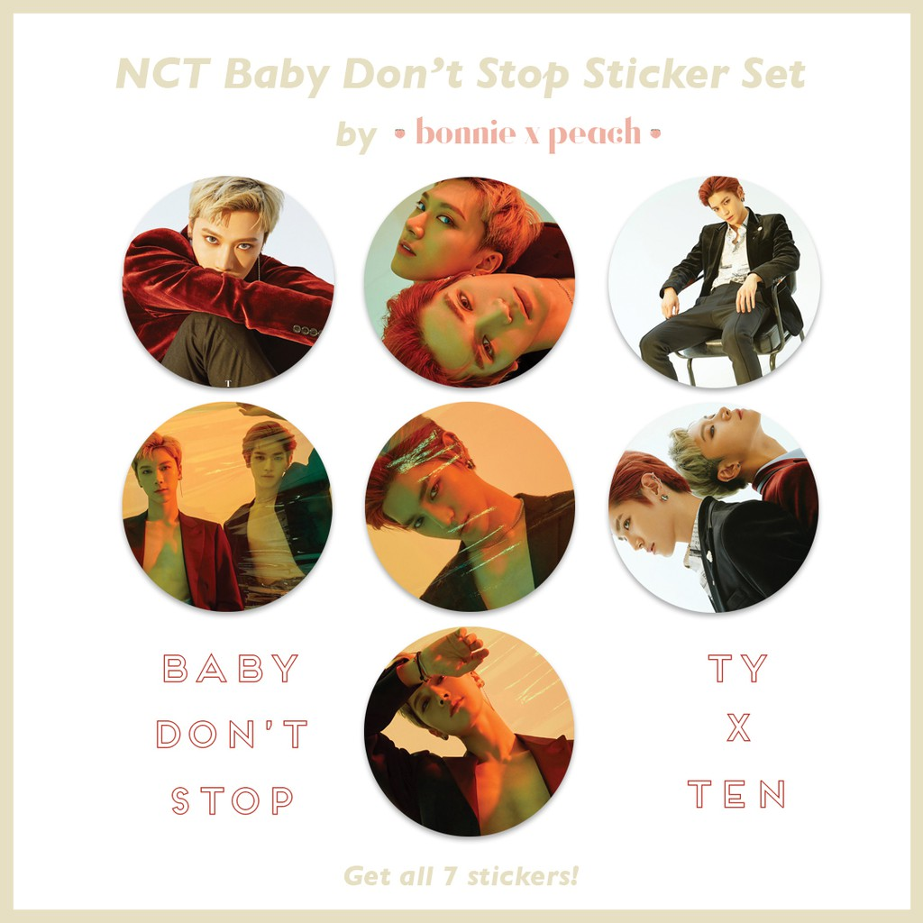 NCT Baby Don't Stop Sticker Set