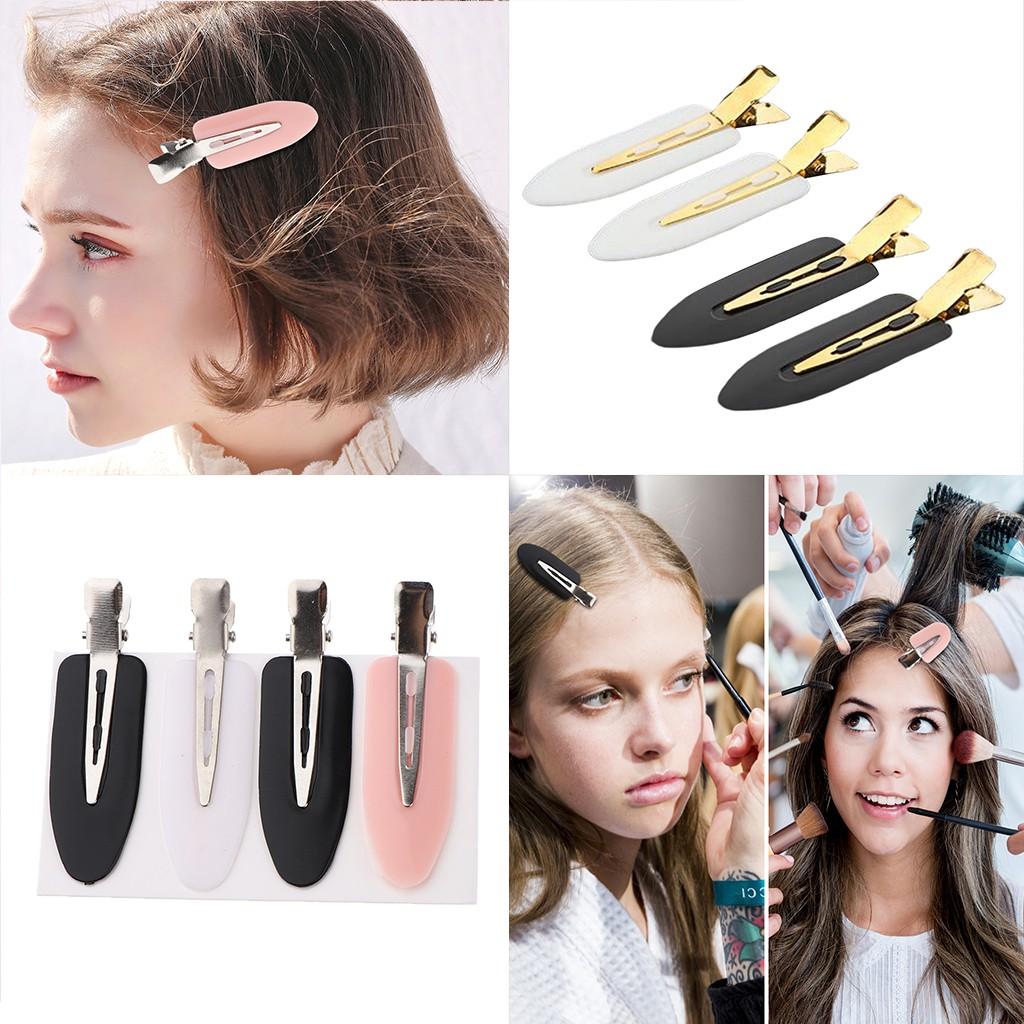 4pcs Hair Clip No Bend Hair Bangs Clips No Mark Hair Pin Curl Clips 4 Color new