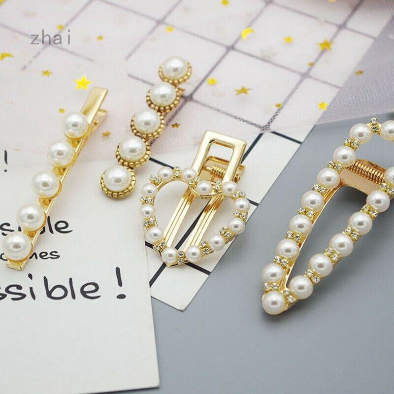 Pearl Hair Clip Slide Hair Pin Barrette Bridal Hair Accessory UK Korean Clips