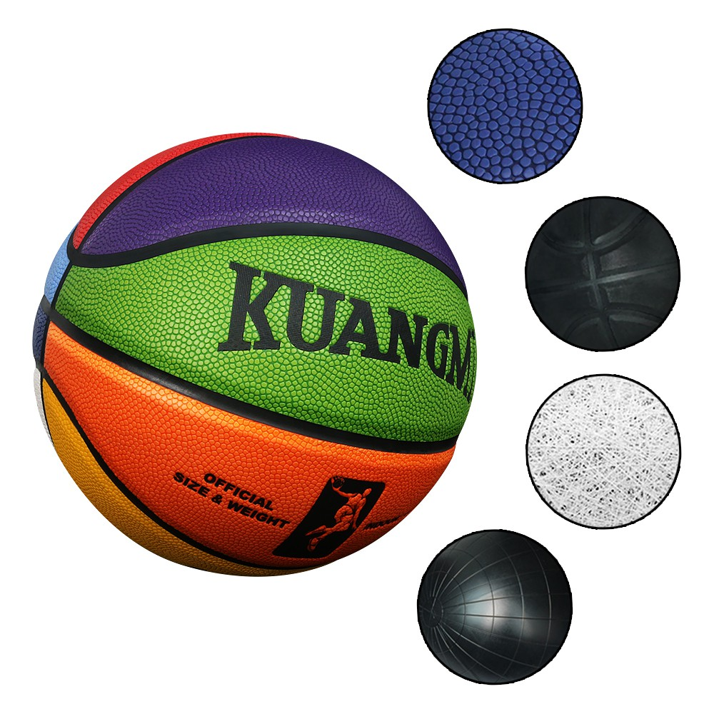 """Kuangmi Colorful Street Basketball for Men Women Youth Teenager Size 6 28.5"""""""