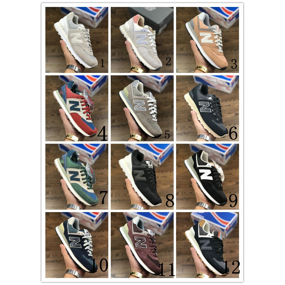 New Balance 574 Men S Sports Retro Running Shoes Women Jogging Casual Shoes Shopee Philippines