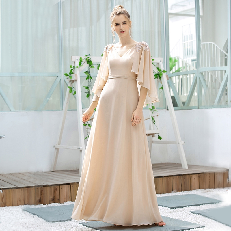 Sweet Chiffon Party Long Dinner Dress Plus Size Elegant Embroidery Prom Formal Cocktail Ball Gown Wedding Guest Dress 0638 Shopee Philippines,Wedding Guest Dresses Fall 2019
