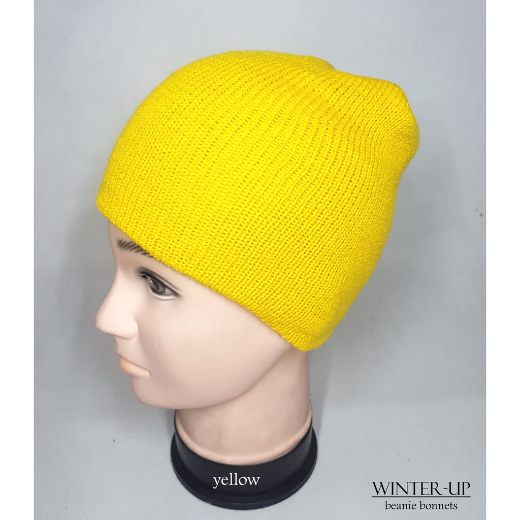 YELLOW FASHION BEANIE BONNETS
