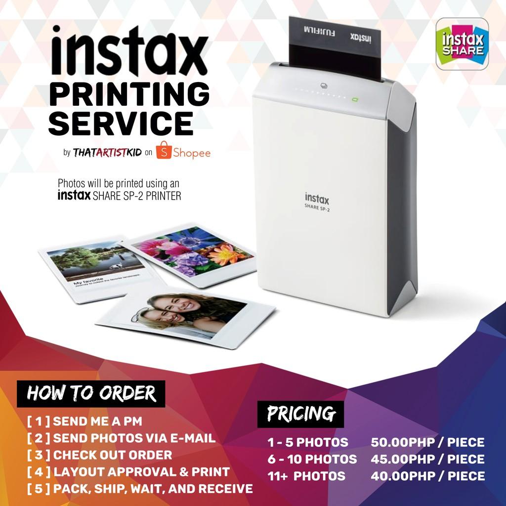Instax Printing Service