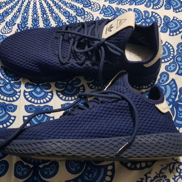 separation shoes b916f b58d2 Adidas x Pharell Williams Tennis Hu Dark Blue US Size 7   Shopee Philippines