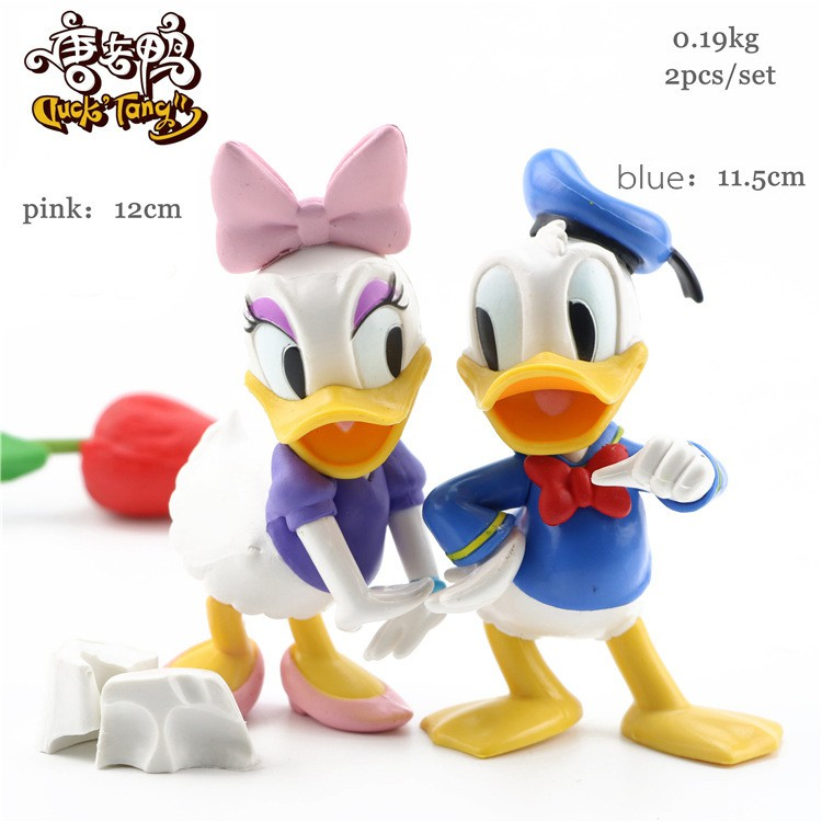 Disney 2pcs Set Donald Daisy Duck Figures Toys Cake Toppers Shopee Philippines