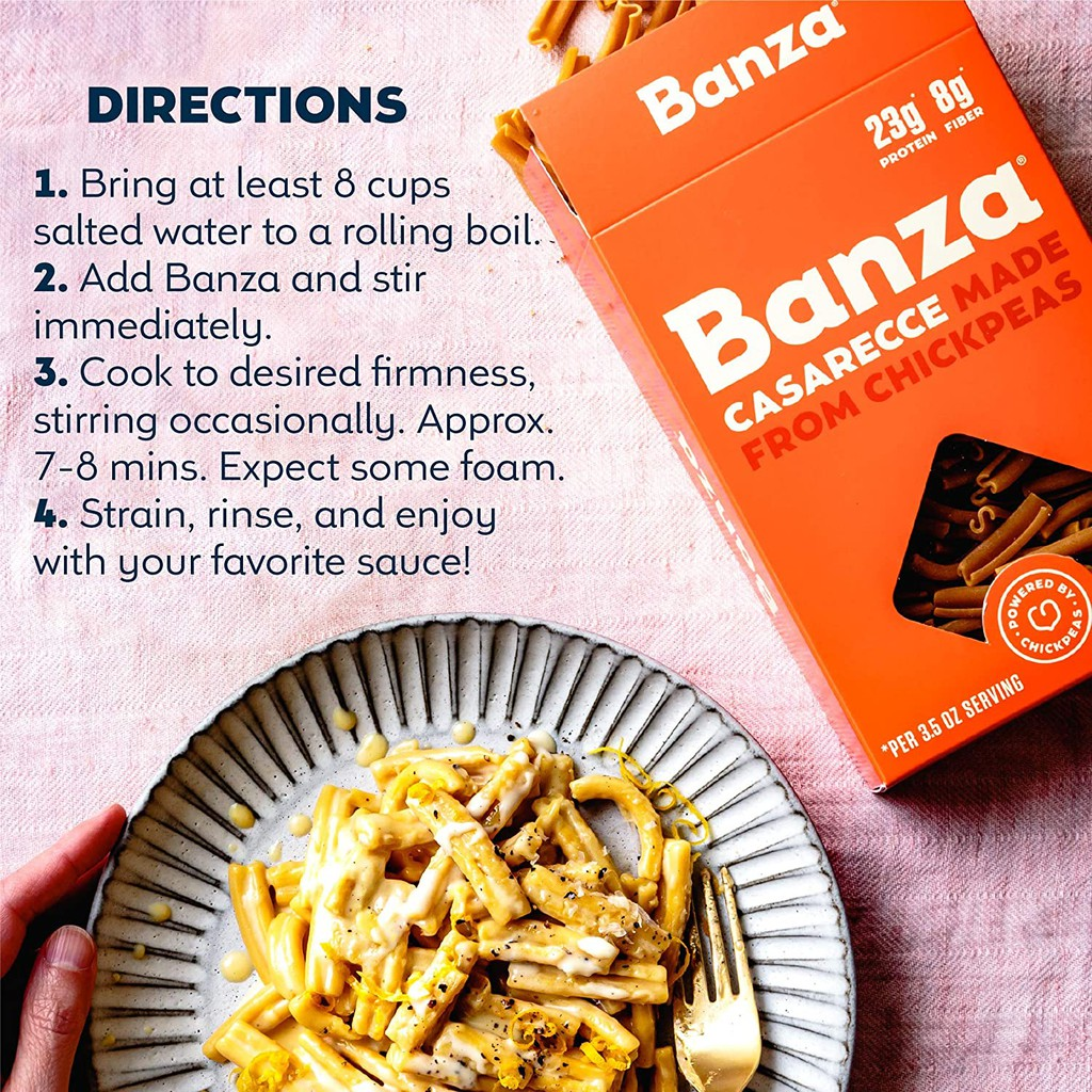 On Hand Banza Chickpea High Protein Pasta Rotini Spaghetti Linguine Elbow Macaroni Rigatoni Shopee Philippines