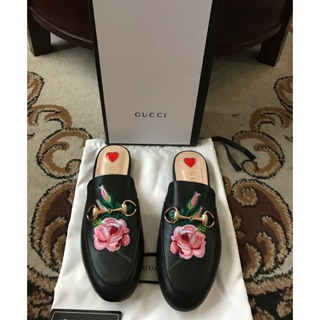 8ba5bbd88 NEW GUCCI Princetown Mules Leather Floral Slippers | Shopee Philippines