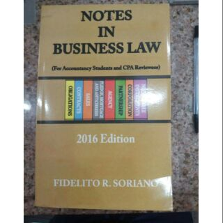 Notes in Business Law by Soriano | Shopee Philippines