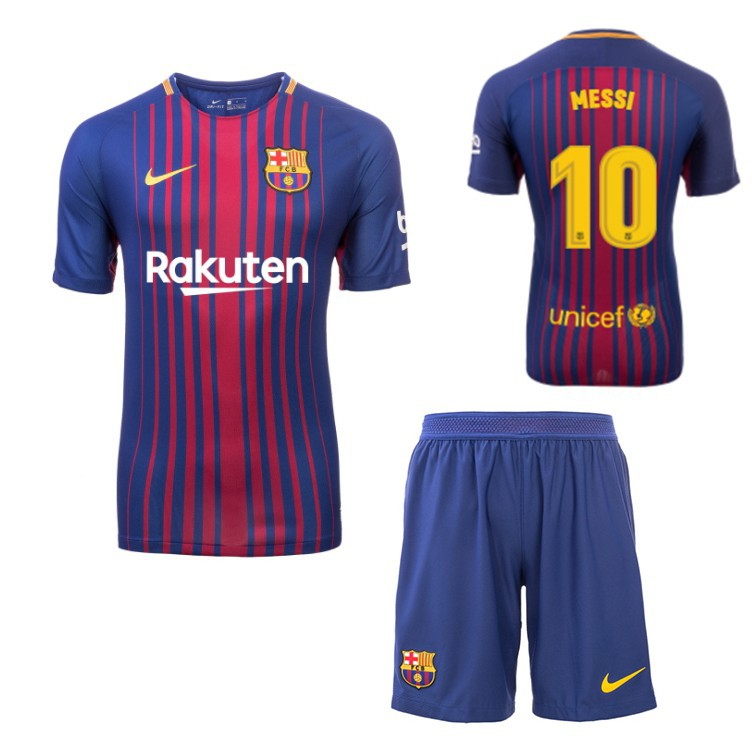 cheaper fbba8 0d90f 17/18 Barcelona FC MESSI home football jersey+shorts