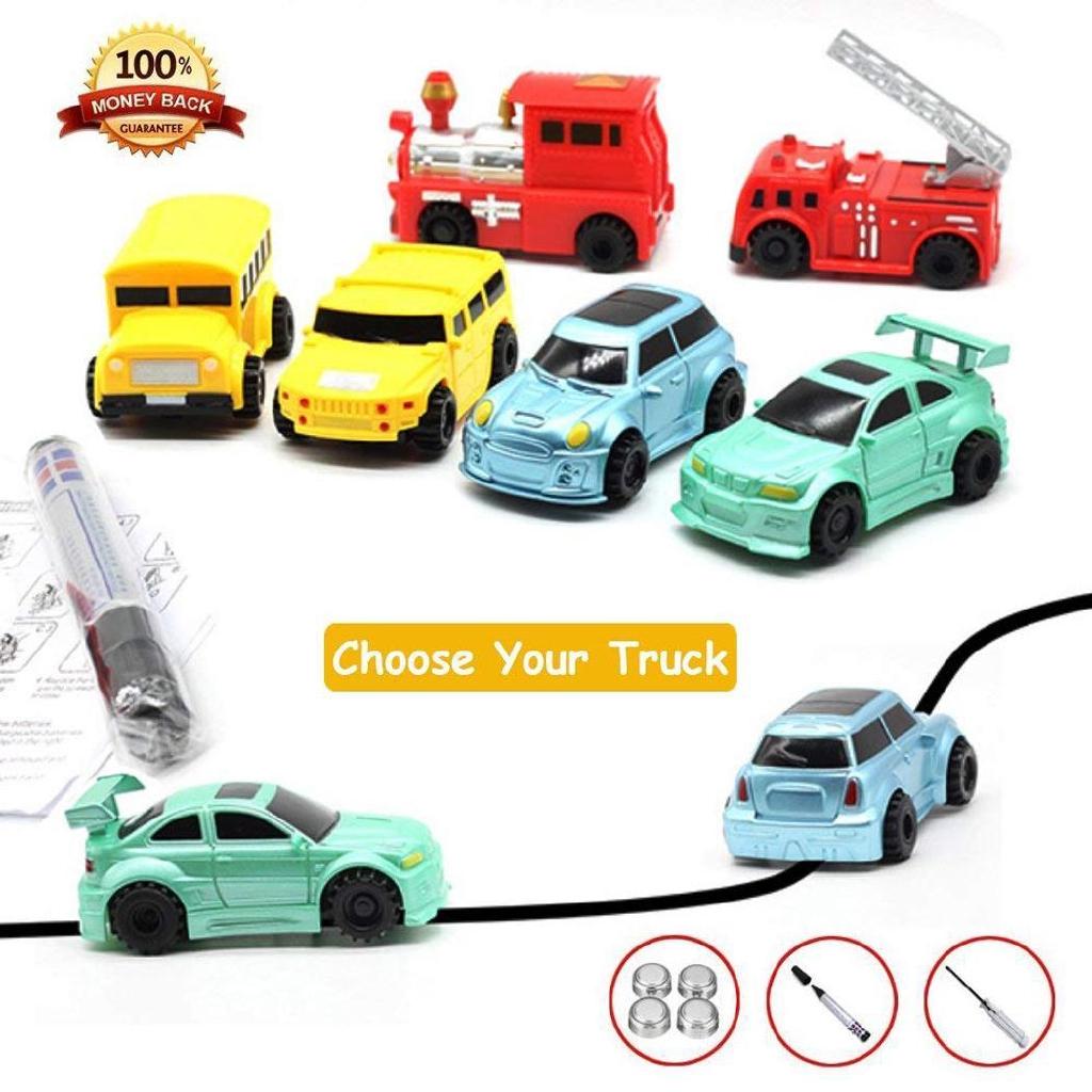 Zauberartikel & -tricks Best Follow Any Drawn Line Magic Pen Inductive Toy Car Truck Bus Tank Model A1