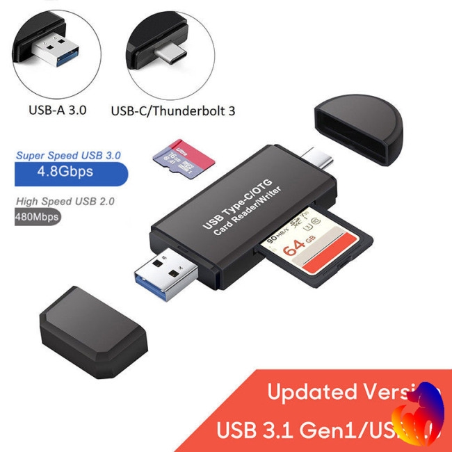 USB Card Reader 3 in 1 USB 3.0 Flash /& Type C /& TF//SD Memory Card Reader Micro USB Combo with OTG Function for MacBook Windows Computer Google Tablet Android Cell Phone Upgraded Version