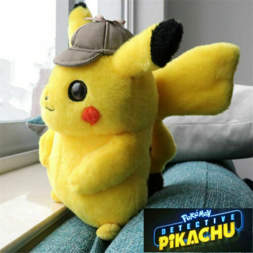 Big Detective Pikachu Plush Toy Doll Soft Stuffed Pokemon Fans