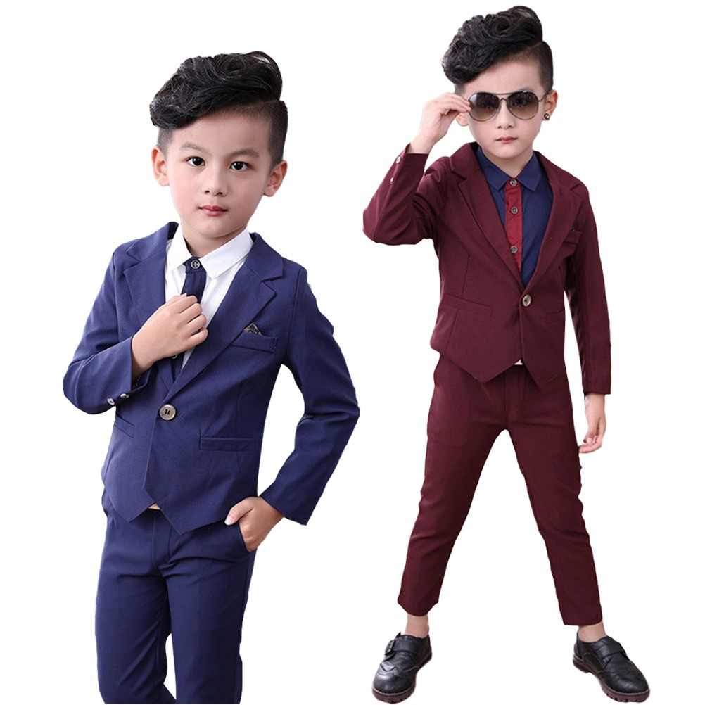 shop best sellers outlet discount Kids Boys Formal Tuxedo Suit Wedding Party Costume Birthday Wear ...