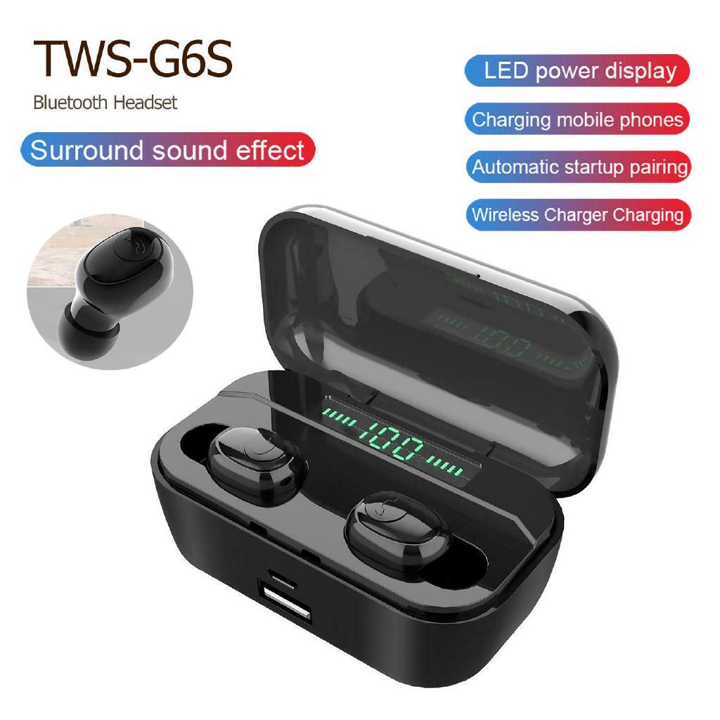 TWS G6s Bluetooth 5 0 Earphones TWS Wireless Sports Bass