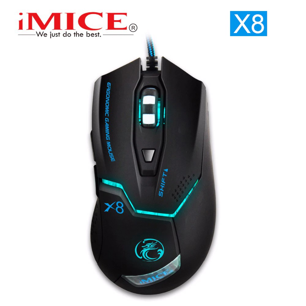 48e0aa3df13 IMICE X8 LED 3200 dpi Light USB PC Wired Gaming Mouse | Shopee Philippines