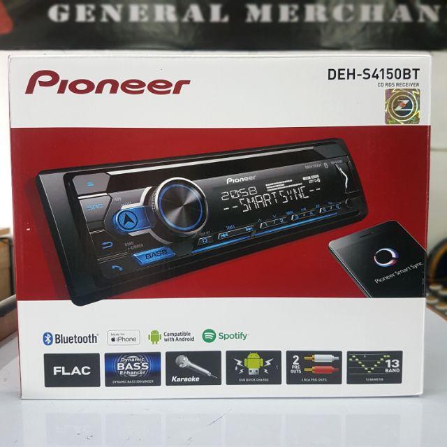 Original Pioneer DEH-S4150BT CD RDS Receiver Car Stereo