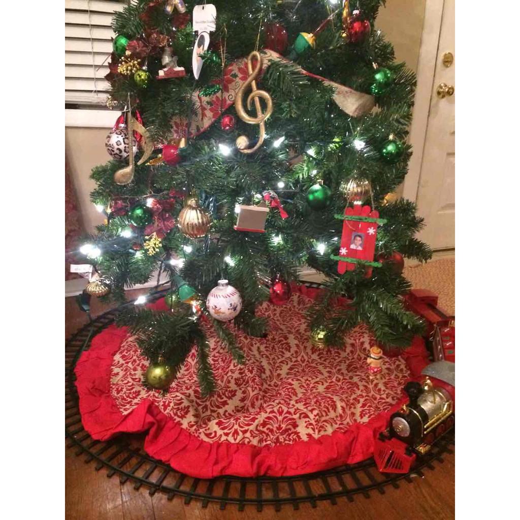 Burlap Christmas Tree Skirts Shopee Philippines