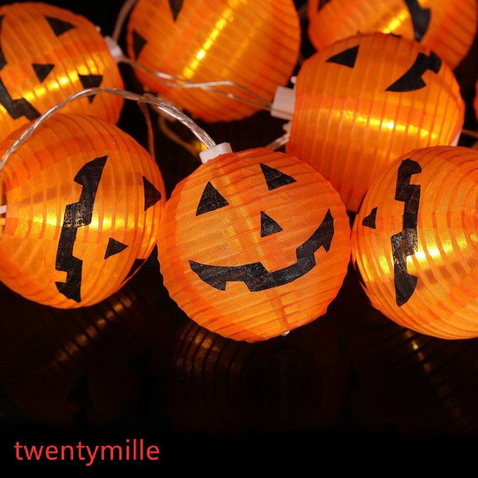 LED Pumpkin Hanging Lantern Light Lamp Halloween Decorations For Home Horror