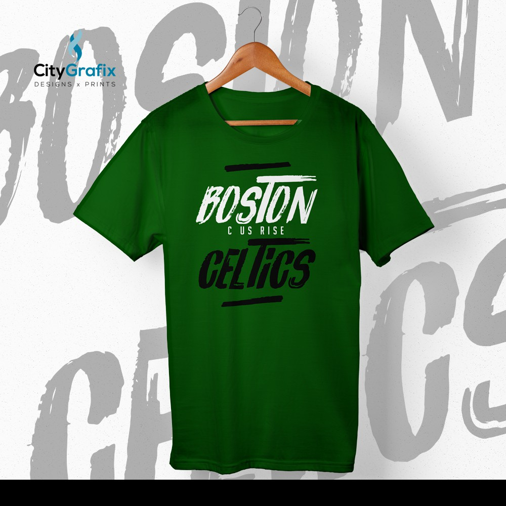 45ca52a6e C US RISE BOSTON CELTICS NBA 2018 PLAYOFFS SHIRT