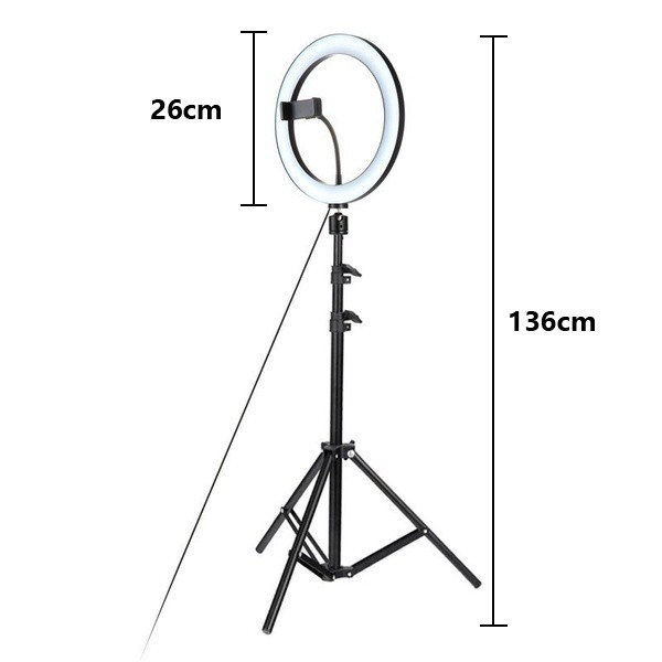 Live Light Fill 26CM Ring Light With 1.1M Tripod For Phone Selfie Beauty Photography
