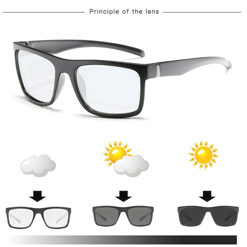 6a0e4fdfd2aff Polarized Photochromic Sunglasses Men fishing Transition