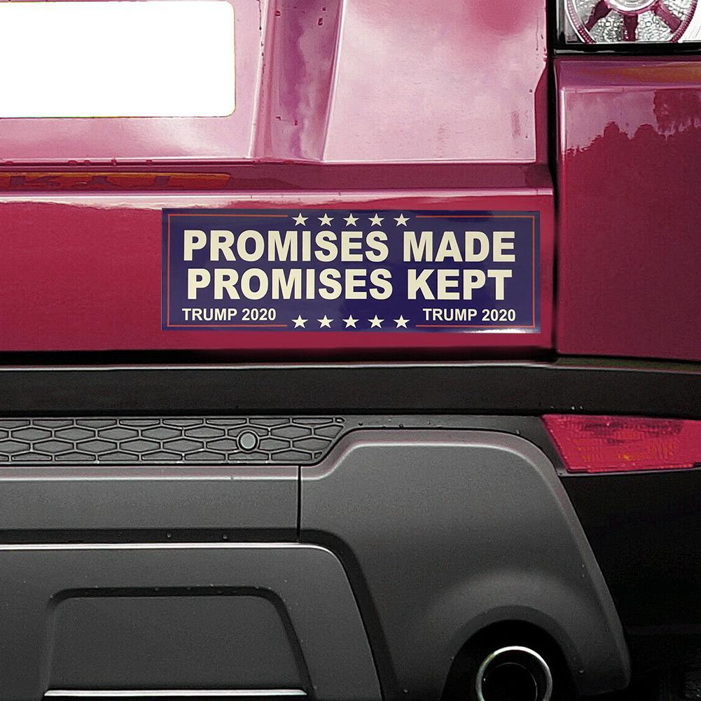 Trump 2020 White No More BS MAGA President USA Window Decal Bumper Sticker